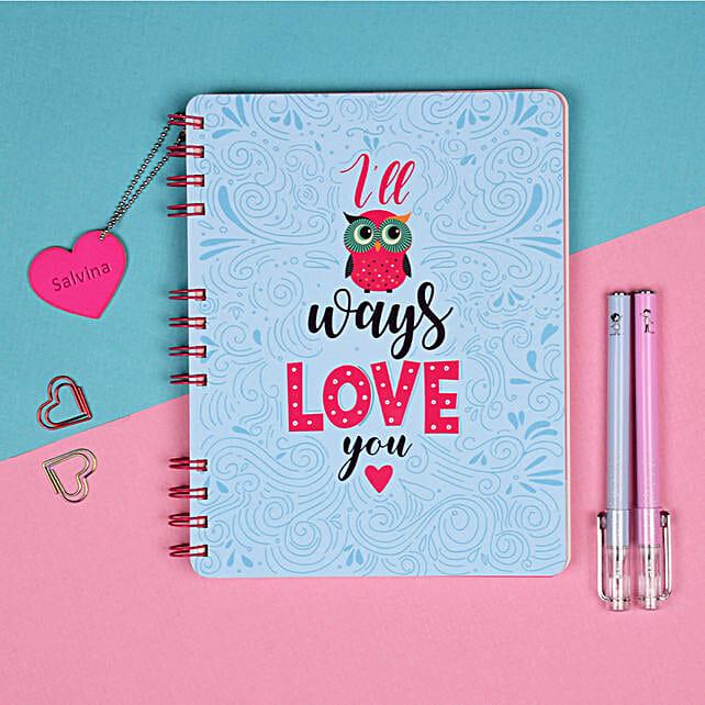 Hopeless Romantic Personalised Notebook: Personalised Stationary