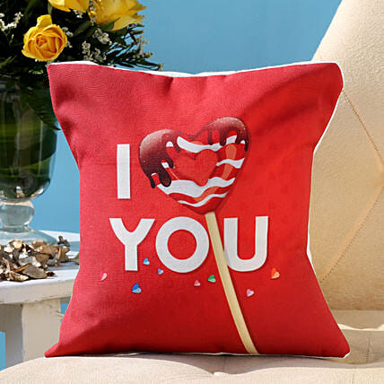 I Love You Heart Cushion: Valentines Day Cushions