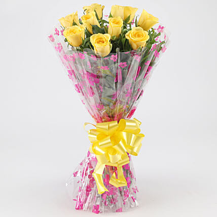 Joyful Yellow Roses: Flowers for Valentines Day