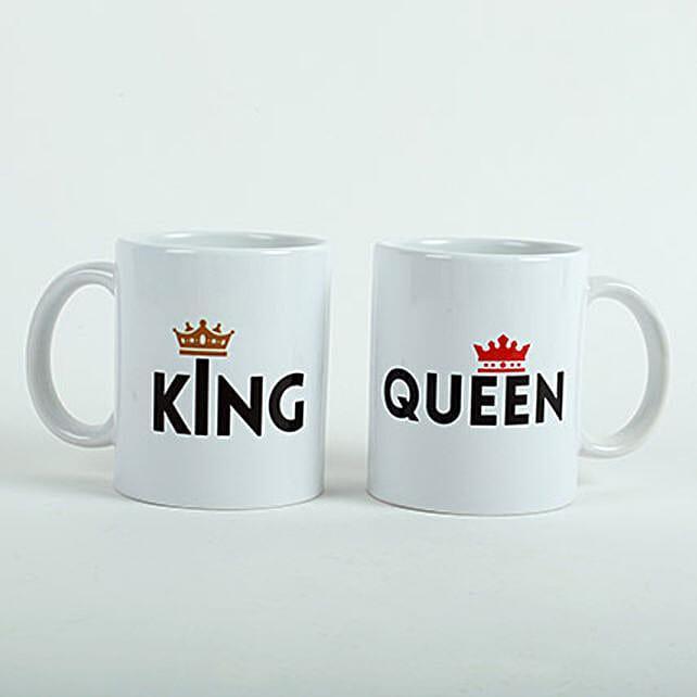King Queen Printed Mugs: Coffee Mugs