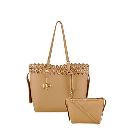LaFille Pretty Beige Handbag Set: Buy Handbags