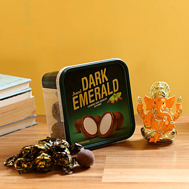 Ganesha Idol with Chocolate Box: Chocolate Combos