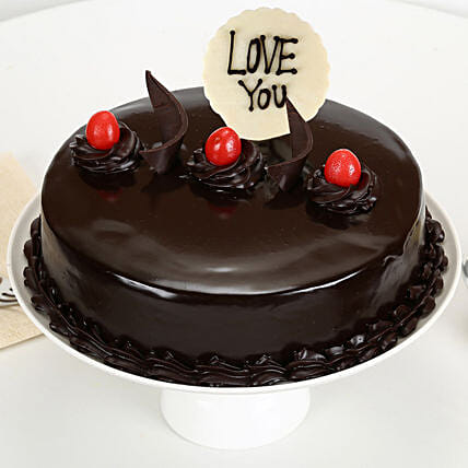 Love You Valentine Truffle Cake: