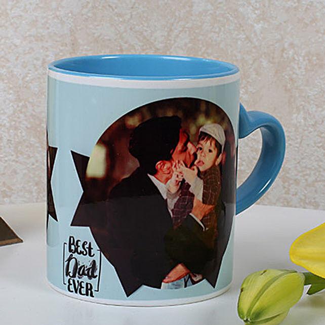 Lovely Personalized Blue Mug: Fathers Day Personalised Mugs