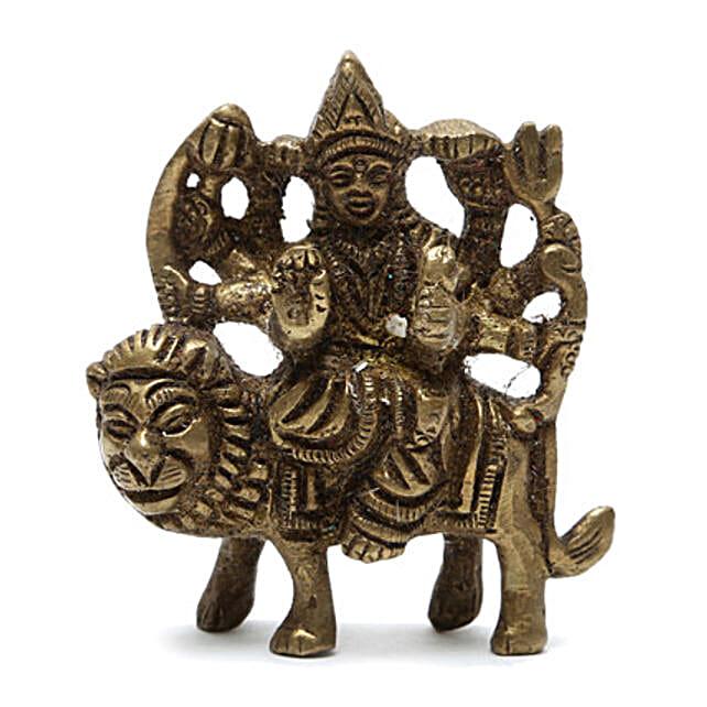 Maa Durga Brass Idol: Send Spiritual Gifts