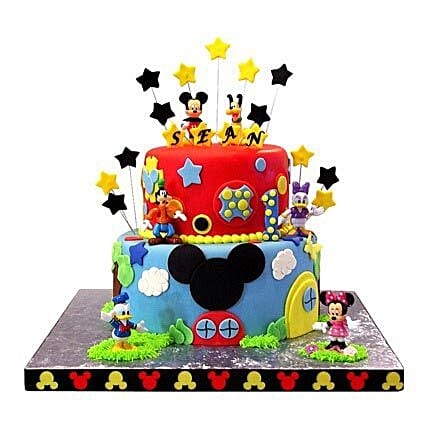 Mickey Mouse Clubhouse Cake: Multi Tier Cakes