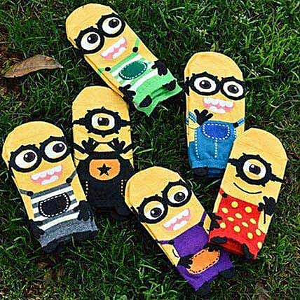 Minions Despicable Me Ankle Socks 5 Pairs: Unusual Gifts