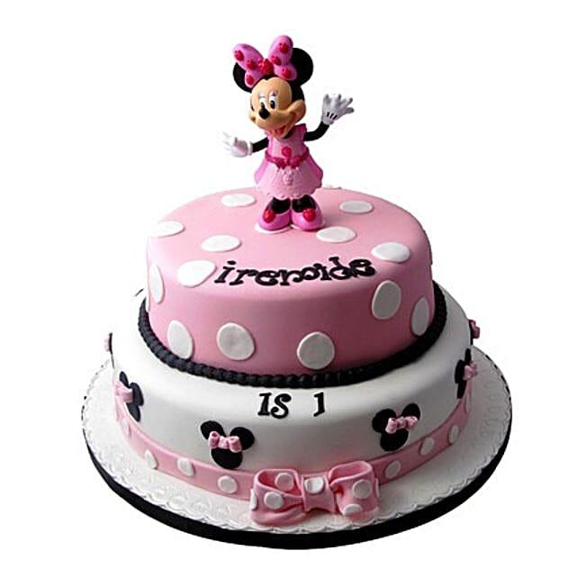 Minnie Mouse Birthday Cake: Multi Tier Cakes