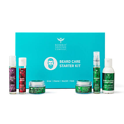 Mint Scented Beard Care Starter Gift Kit: Cosmetics & Spa Hampers