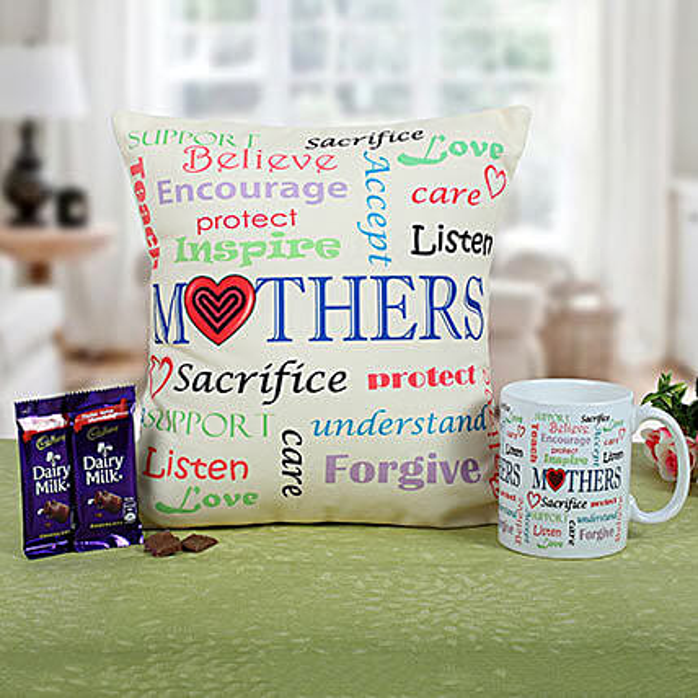 Mom Special Cushion N Coffee: Send Home Decor for Birthday