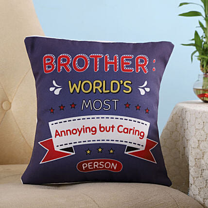 Most Caring Brother Cushion: Bhai Dooj Gifts for Brother