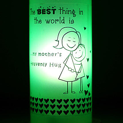Mothers Hug Bottle Lamp: Send Gifts to Bongaigaon