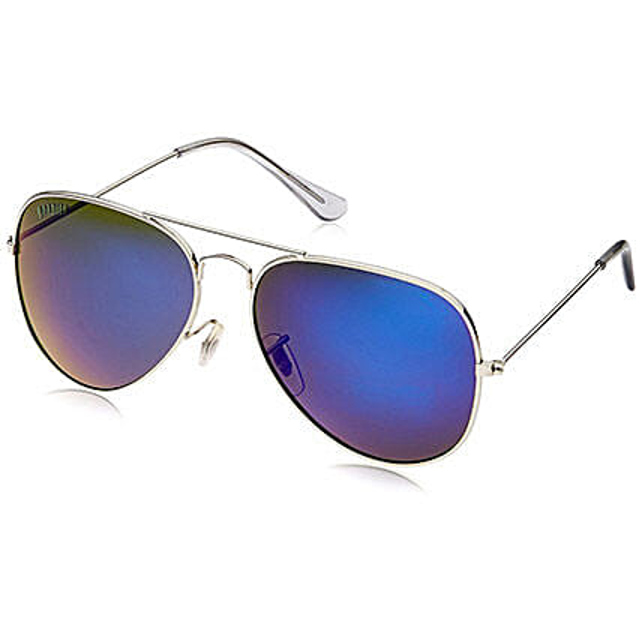 MTV Roadies Blue Mirrored Unisex Aviator Sunglasses: Sunglasses Gifts