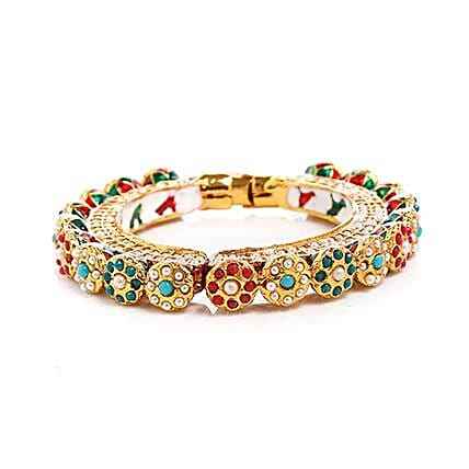 Multicolor Kundan Bangle: Accessories