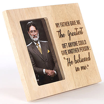 My Father Believed In Me Personalised Photo Frame: Personalised Engraved