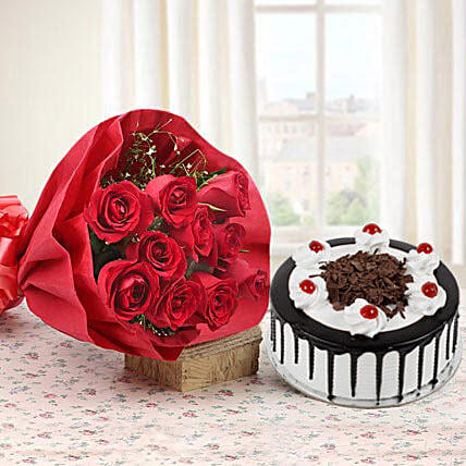 My Sweet Bouquet: Flower Bouquet with Cake