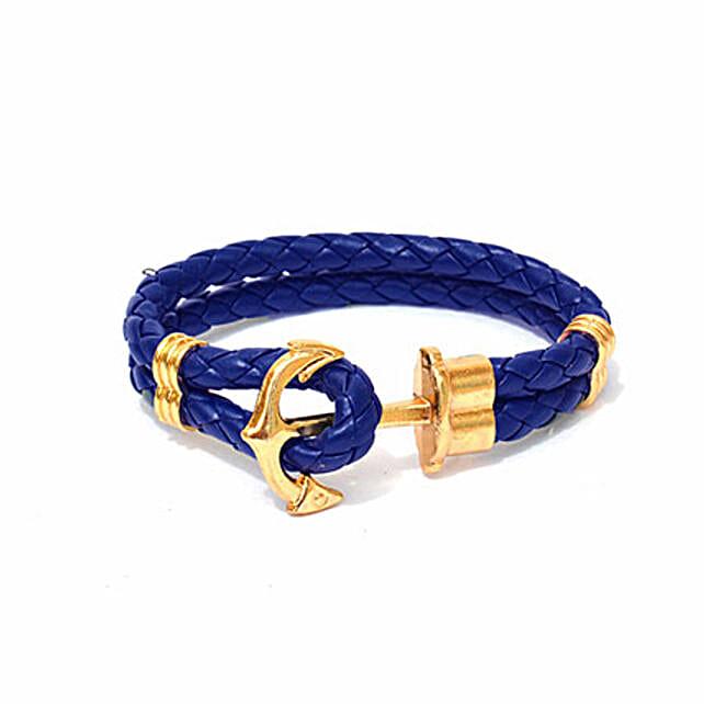 Navy Anchor Braided Bracelet: Friendship day Bracelets