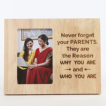 Never Forget Your Parents Photo Frame: Send Gifts for Parents Day