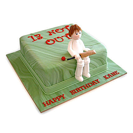 Not Out Cricket Cake: Designer Cakes