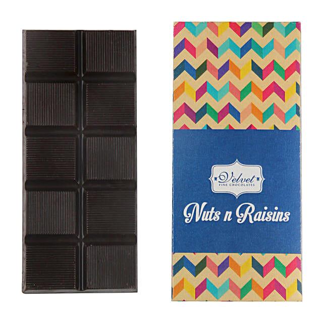 Nuts And Raisins Dark Chocolate Bar: Chocolates for birthday