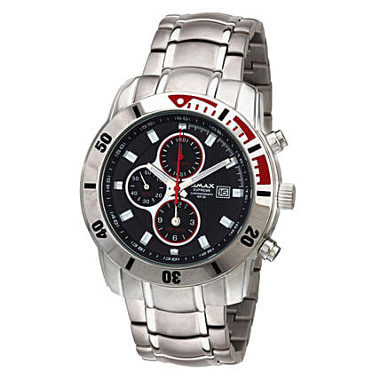 Omax Analog Chronograph Black Dial Mens Watch: Buy Watches