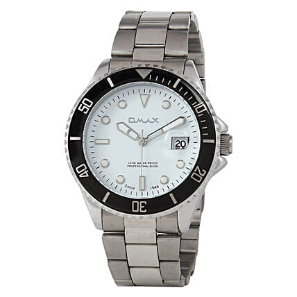 Omax Cool Dial Mens Watch White: Buy Watches
