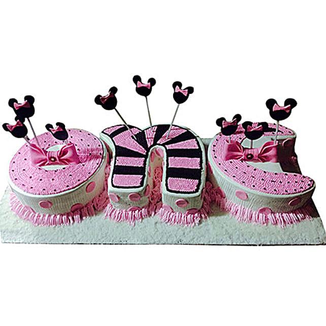 One Semi Fondant Cake: Alphabet N Number Cakes