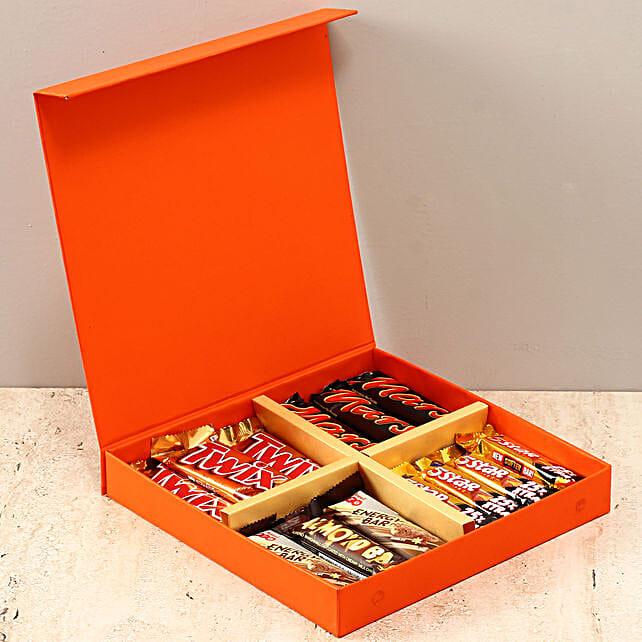 Orange FNP Box Of Chocolates: Send Eid Gifts