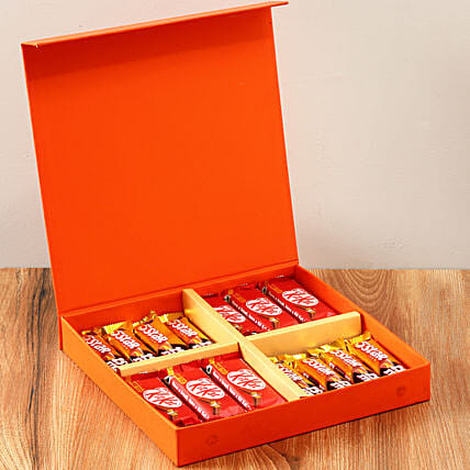 Orange FNP Gift Box Of Chocolates: Hug Day Gifts