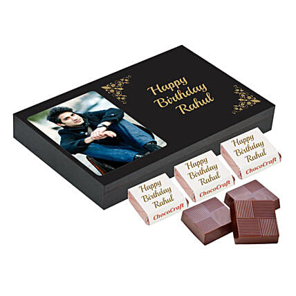 Personalised Birthday Chocolate Box- Black: Chocolates Shopping India