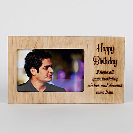 Personalised Birthday Engraved Frame: Personalised Gifts for Him