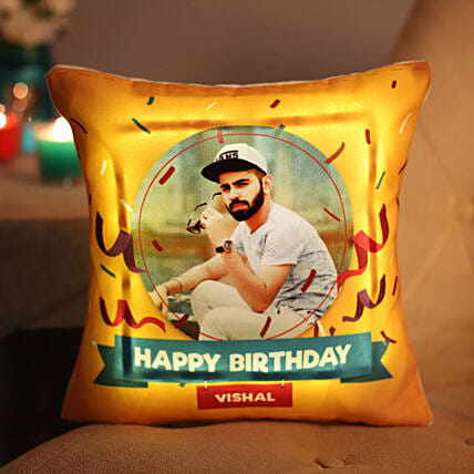 Personalised Birthday LED Cushion Gifts For Him