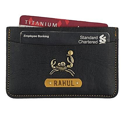 Personalised Black Card Holder: