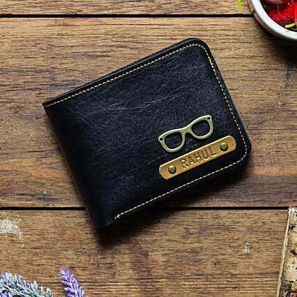 Personalised Black Mens Wallet: Fashion Accessories