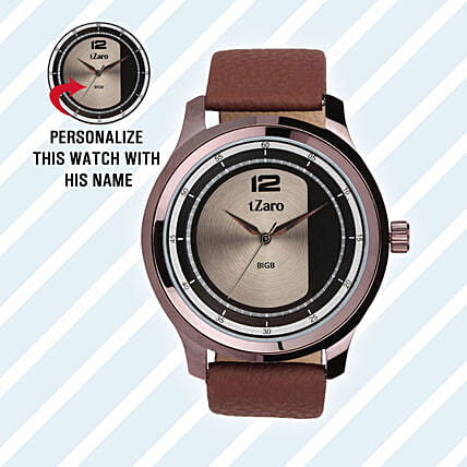 Personalised Brown Watch For Him: Buy Watches
