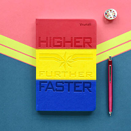 Personalised Captain Marvel Notebook: Gifts to India