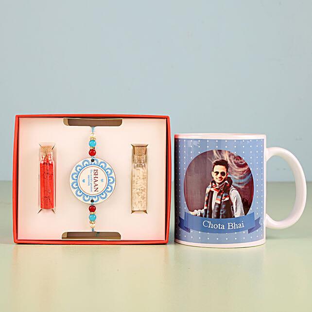 Personalised Combo Of Rakhi And Mug: Personalized Rakhi