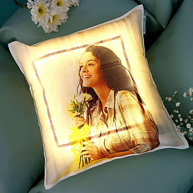 Personalised Cool Yellow LED Cushion: Cushions