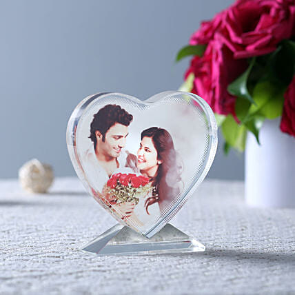 Personalised Crystal Table Top: Karwa Chauth Special Photo Frames