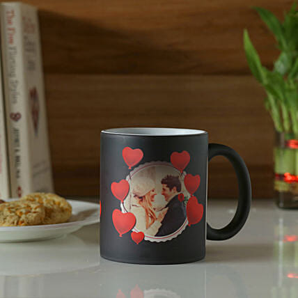 Personalised Heart Magic Mug: Same Day Delivery Personalised Gifts