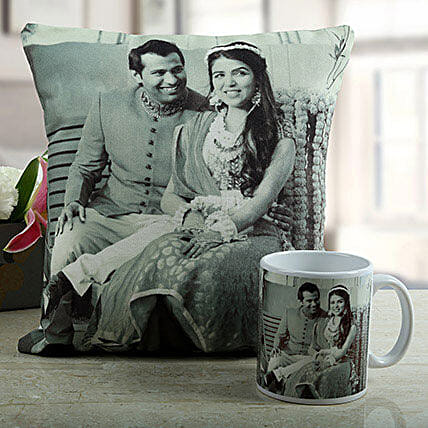 Personalised Memories Combo: Cushions and Mugs Combo