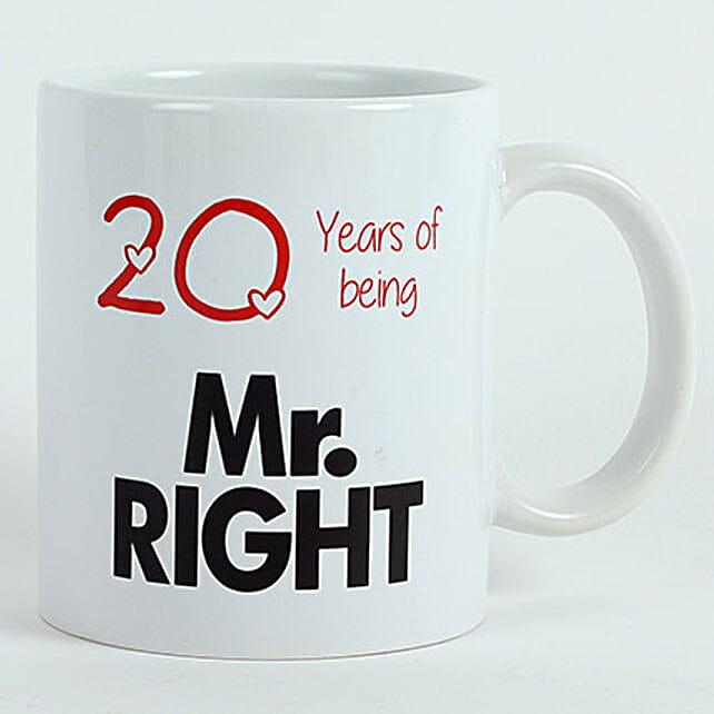 Personalised Mr Right Mug: Just Because