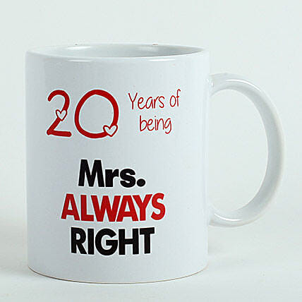 Personalised Mrs Right Mug: Just Because Gifts