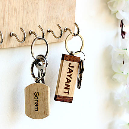 Personalised Name Key Chains Set of 2: Personalised Key Chains