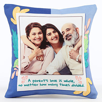 Personalised Parent's Love Cushion: Send Gifts for Parents Day