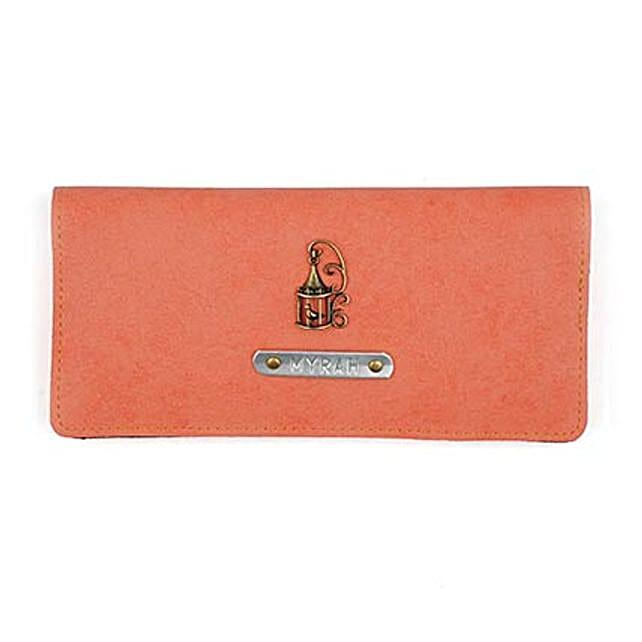 Personalised Peach Womens Wallet: Handbags and Wallets