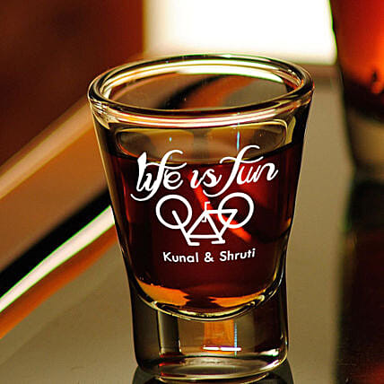 Personalised Set Of 2 Shot Glasses 1016: Personalised Glassware For Valentine's Day