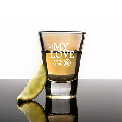 Personalised Set Of 2 Shot Glasses 1033: Personalised Shot Glasses
