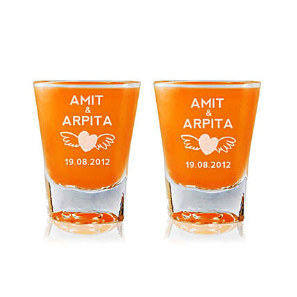 Personalised Set Of 2 Shot Glasses 2304: Personalised Shot Glasses
