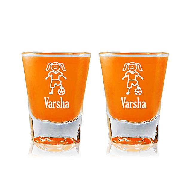 Personalised Set Of 2 Shot Glasses 2309: Personalised Glassware